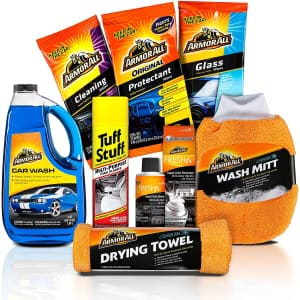 Armor All 8-Piece Car Wash and Cleaner Kit for $33
