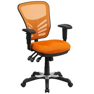 Flash Furniture Mid-Back Orange Mesh Multifunction Executive Swivel Ergonomic Office Chair with for $259