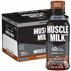 Muscle Milk Pro Series Protein Shake, Knockout Chocolate, 40g Protein, 14 Fl Oz, 12 Pack for $36