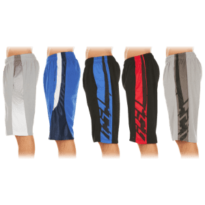 Nextex Men's Assorted Athletic Shorts 5-Pack (L sizes) for $29