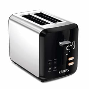 KRUPS KH320D50 My Memory Digital Stainless Steel Toaster, 7 Browning Level with personalized for $51
