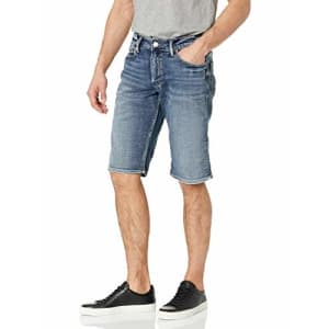 Silver Jeans Co. Men's Gordie Loose Fit Shorts, Dark Shade, 30W x 13L for $55