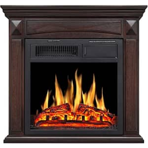 """Rintuf 26"""" Freestanding Electric Fireplace w/ Mantle for $230"""