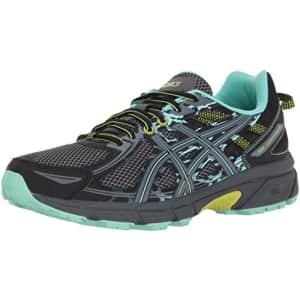 ASICS Women's Gel-Venture 6 Running-Shoes,Black/Carbon/Neon Lime,7 Medium US for $60