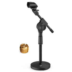 Moukey Short Weighted Base Microphone Stand for $12