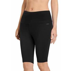 Jockey Women's Activewear High Waist Cotton Stretch Bike Short, Black, L for $30