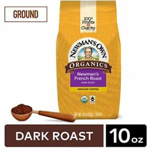 Newman's Own Organics Newman's French Roast, Ground Coffee, Dark Roast, Bagged 10 oz for $10