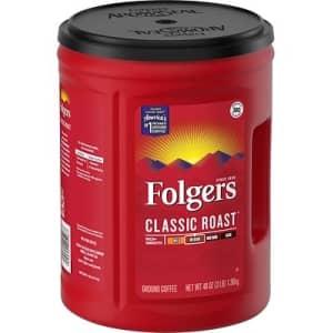 Folgers Classic Medium Roast 48-oz. Ground Coffee for $7