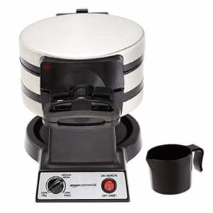 AmazonCommercial Double Waffle Maker, Stainless Steel, 1400 Watts for $55