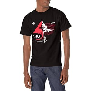 LRG Lifted Research Group Men's Graphic Design Logo T-Shirt, Black Tactics, M for $19