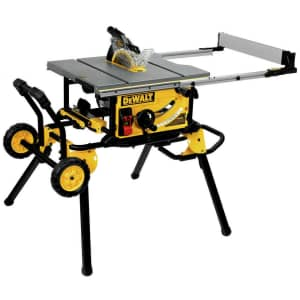 """DeWalt 10"""" Jobsite Table Saw w/ Rolling Stand for $533"""