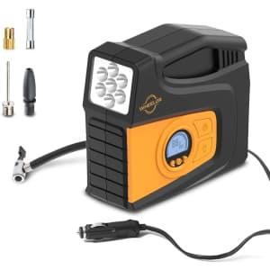 Wheelor Digital Portable Air Compressor for $25
