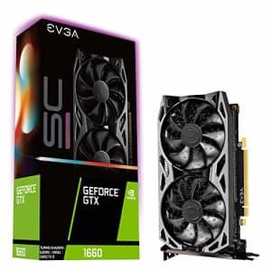 EVGA GeForce GTX 1660 SC Ultra Gaming, 06G-P4-1067-KR, 6GB GDDR5, Dual Fan for $480