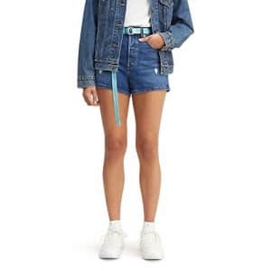 Levi's Women's Premium Ribcage Shorts, Charleston Chill, 31 (US 12) for $65