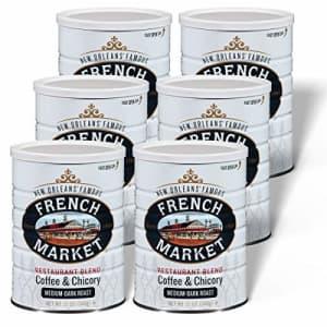 French Market Coffee, Coffee and Chicory Restaurant Blend, Medium-Dark Roast Ground Coffee, 12 for $31