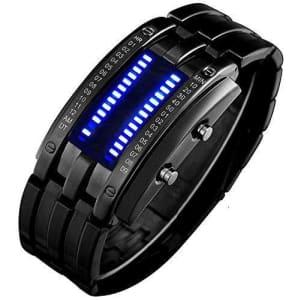 Binary Matrix LED Digital Watch for $17