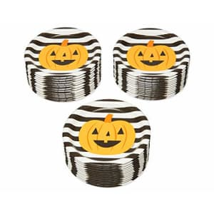 American Greetings Halloween Party Supplies, Pumpkin Paper Dessert Plates (36-Count) for $8