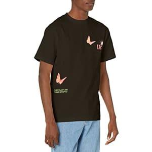 LRG Men's Spring 21 Graphic Designed Logo T-Shirt, Black, Small for $22