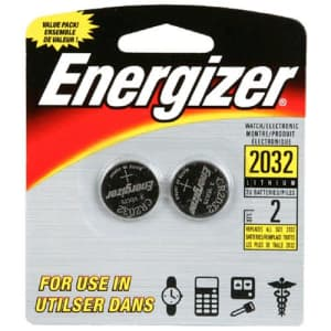 Energizer Lithium Coin Blister Pack Watch/Electronic Batteries, 2 - Count (Pack of 12) for $16