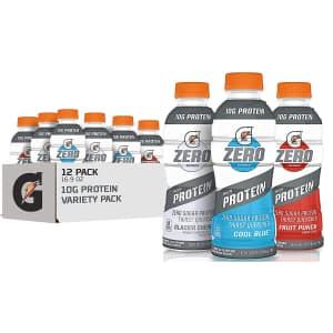 Gatorade Zero 3 Flavor 16.9-oz. Variety 12-Pack for $16 w/ Prime