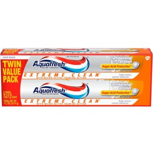 Aquafresh Extreme Clean Toothpaste 2-Pack for $3