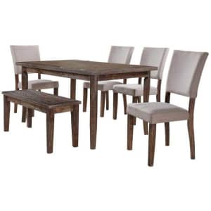 Best Master Furniture Mindy 6-Piece Dining Set w/ Bench for $647