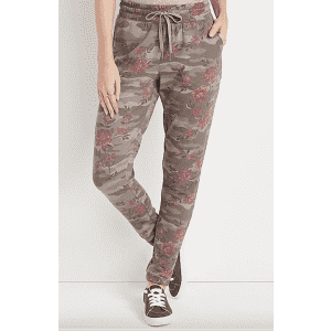 Maurices Women's Camo Floral Jogger Pants for $7