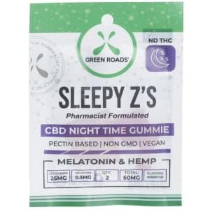 Green Roads CBD 50mg Sleepy Z's Gummies for $7