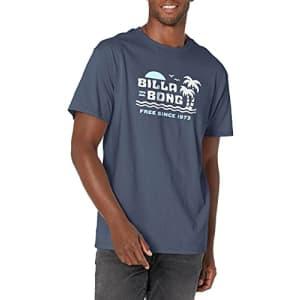 Billabong Men's Classic Short Sleeve Premium Logo Graphic T-Shirt, Social Lounge Navy, Medium for $26