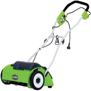 "GreenWorks 10A 14"" Corded Dethatcher for $112"