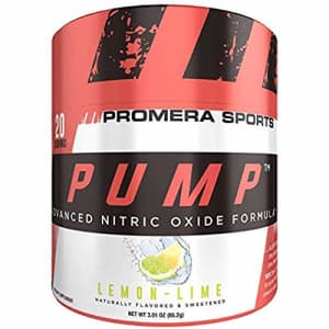 ProMera Sports Pump, Lemon Lime, 20 Servings, Advanced Nitric Oxide Booster & Pump Amplifier with for $22