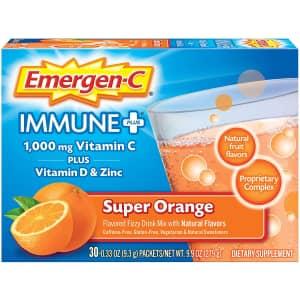 Emergen-C Immune+ Powder Drink Mix 30-Count Box: 2 for $14