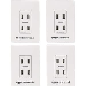 AmazonCommercial In-Wall USB Charger 4-Pack for $60