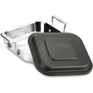"""All-Clad 8"""" Square Stainless Steel Lasagna Baker w/ Lid for $50"""