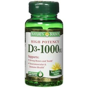 Nature's Bounty Vitamin D3 1000 IU Immune Health, 120 Softgels (Pack of 1) for $5