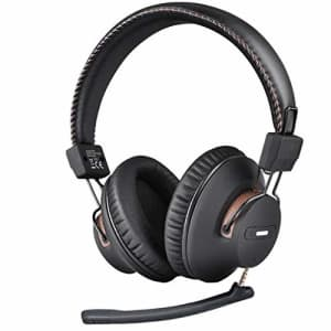 Avantree AS9M Bluetooth Over Ear Headphones with Detachable Boom Mic for Phone Call, Home Office PC for $55