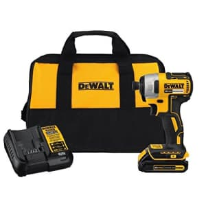 """DeWalt 20-Volt MAX Compact Brushless 1/4"""" Impact Driver for $144"""