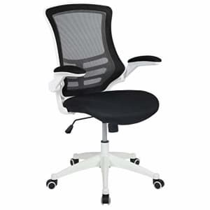 Flash Furniture Mid-Back Black Mesh Swivel Ergonomic Task Office Chair with White Frame and Flip-Up for $161
