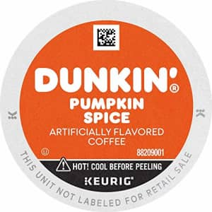 Dunkin Donuts Dunkin' Donuts Coffee, Pumpkin Spice Flavored Coffee, K Cup Pods for Keurig Coffee Makers, 88 Count for $43