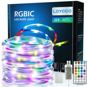Loycco 33-Foot LED Rope Lights for $22