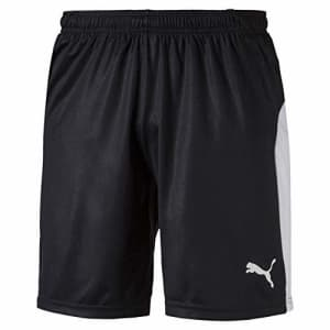 PUMA Men's LIGA Shorts, Black/White, L for $23