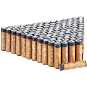 AmazonBasics AAA Alkaline Batteries 100-Pack for $22.79 via Subscribe & Save