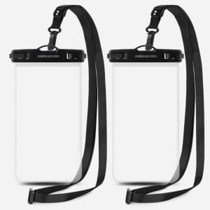 UNBREAKcable Universal Waterproof Phone Pouch 2-Pack for $9