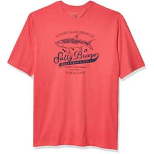 IZOD Men's Big & Tall Big and Tall Short Sleeve Graphic T-Shirt, Real Claret Red, Big-4XL for $12
