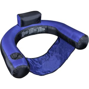Swimline Fabric-Covered Inflatable Pool U-Seat for $20