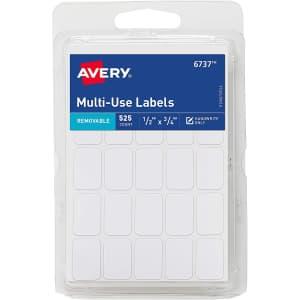 """Avery .5"""" x .75"""" Removable Labels 525-Pack for $2"""