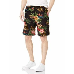 LRG Men's Spring 2021 Shorts-Woven Shirts, Black/Red, Small for $27