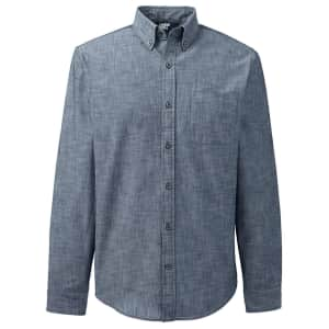 Lands' End Men's Tailored Fit Chambray Shirt for $12