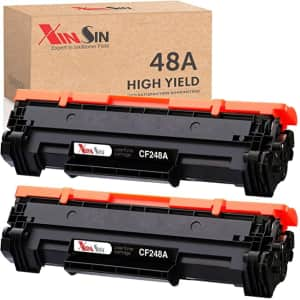 Xinsin Compatible Black Replacement Toner Cartridge 2-Pack for HP 48A for $20
