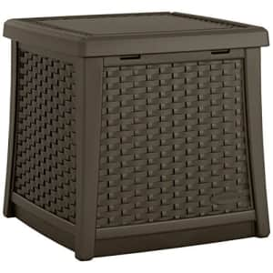 Suncast Elements 13-Gallon End Table with Storage - Lightweight Resin Outdoor Storage Patio and for $74